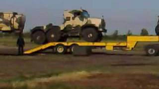 British Army Oshkosh - How not to unload them!
