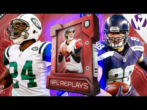 NFL REPLAYS JIMMY GRAHAM & NFL REPLAYS DARRELLE REVIS - Madden 18 NFL Replays Pack Opening Week 9