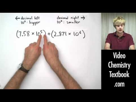 Scientific Notation Addition and Subtraction - YouTube