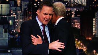 Comedian breaks down on David Letterman show
