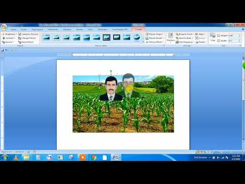 How To Insert Image Into Another Image Using Microsoft Word 2020