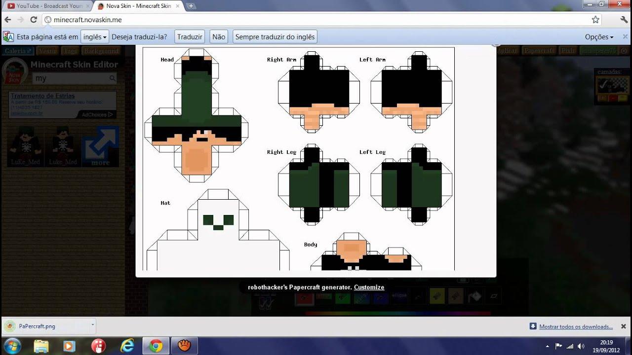 Papercraft Com Fazer O Seu Propio Com Sua Skin YouTube