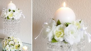 DOLLAR TREE CHANDELIER CANDLE HOLDER | QUICK, EASY AND INEXPENSIVE DIY ❤