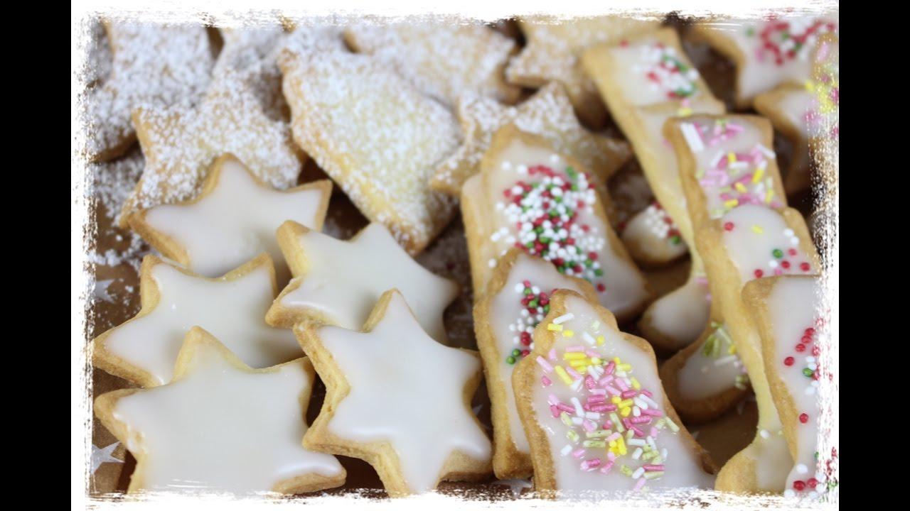 Glasur Weihnachtsplätzchen.Butterplätzchen Und Zuckerglasur Selber Machen Bester Keksteig Der Welt