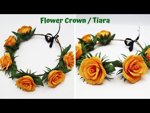 DIY Handmade Flower Crown / Tiara | Flower Headband | How To Make Flower Crown | Pohela Boishakh