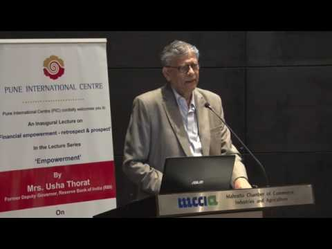Pune International Centre: Lecture by Mrs. Usha Thorat