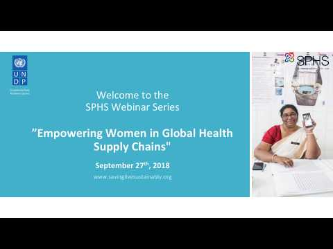 SPHS Webinar: Empowering Women in Global Health Supply Chains