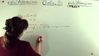 ГИА-9/ОГЭ. Алгебра. 8 класс. Решение системы неравенств.