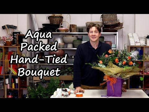 How To Make A Thistles And Roses Hand-Tied Bouquet