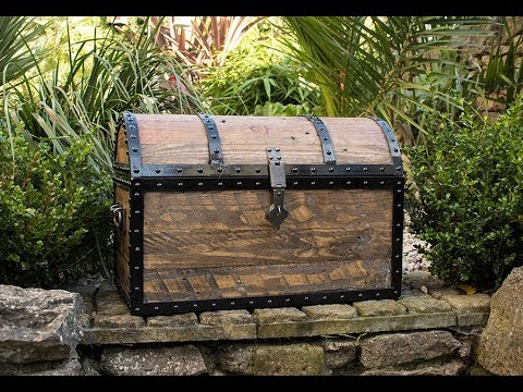 Pirate Treasure Chest made from pallet Wood
