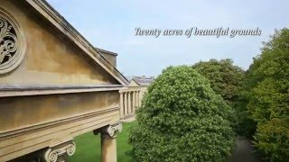 A SPECTACULAR BIRDS EYE VIEW OF DOWNING COLLEGE