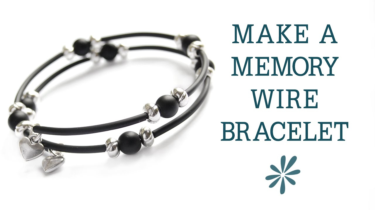 Memory wire bracelet - beginner\'s jewelry-making project - YouTube