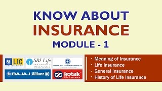 KNOW ABOUT INSURANCE – MODULE 1