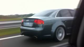 Audi rs4 (b7)   vs  Mitsubishi Evo 9