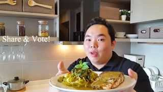 Thai-style Pasta & Pan Fried Salmon