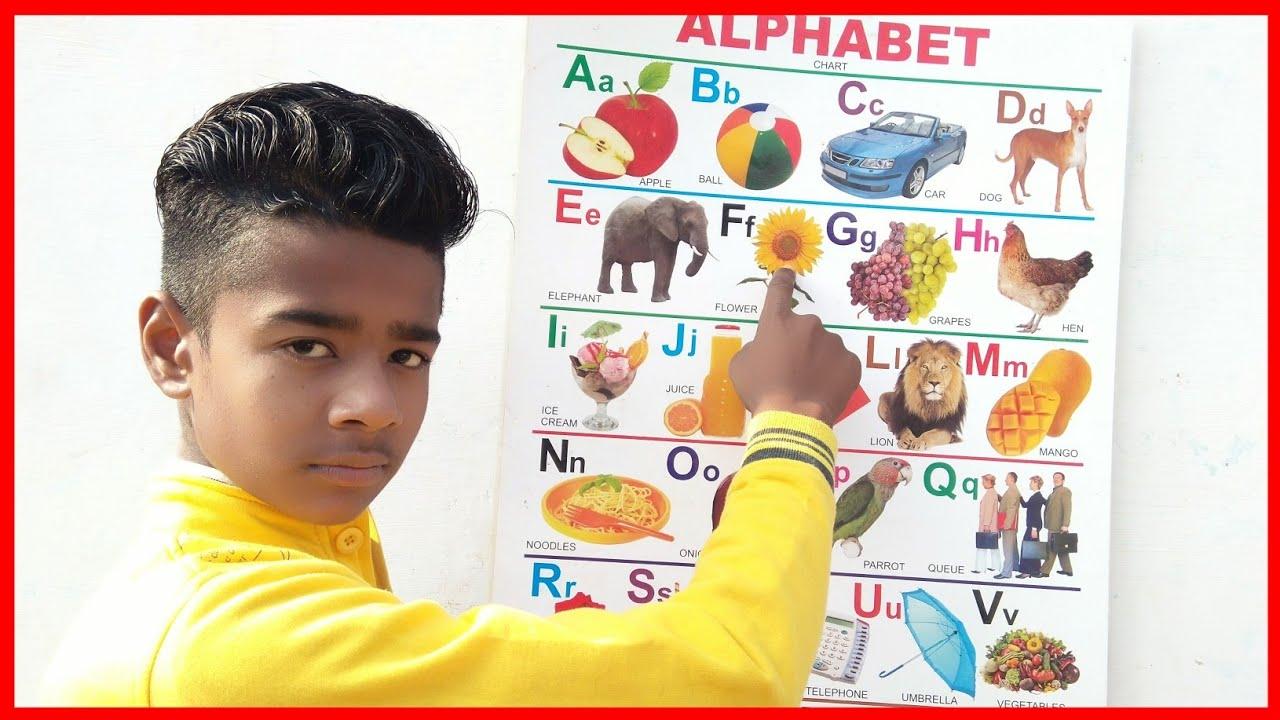 Part 24, a for apple b for badka Apple, learn a b c d e f g h, learn English alphabet, ABCD phonics,