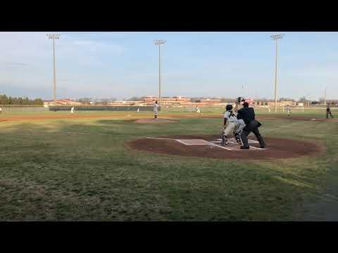 Craig Miles Jr. double vs. Stonewall High School, April 4, 2019