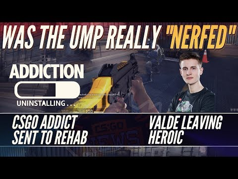 14 Year Old CSGO Addict Sent To Rehab, Was the UMP Nerfed? Valde Set Free, Glitch Fix and Zeus