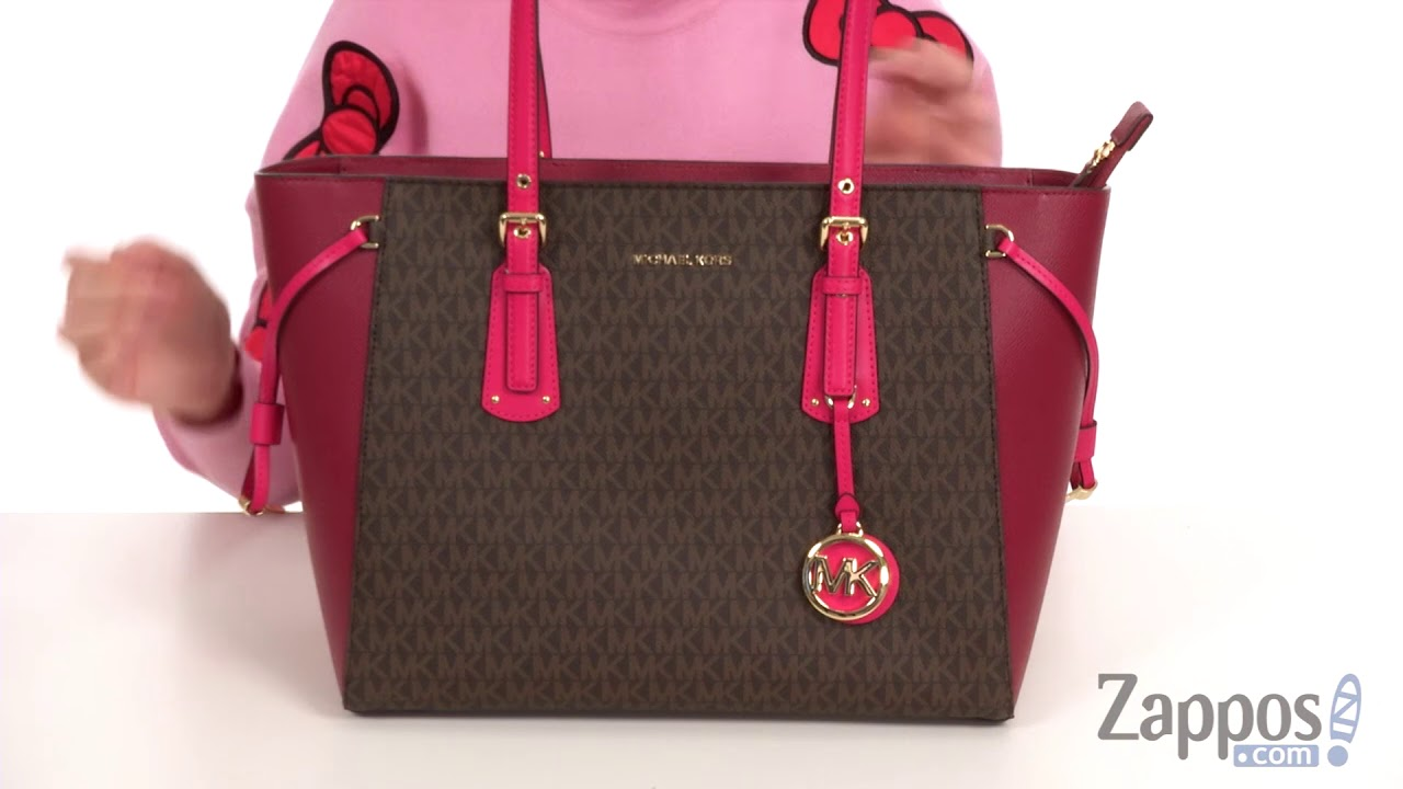 15f70215e4c802 MICHAEL Michael Kors Voyager Medium Top Zip Tote SKU: 9018408 - YouTube