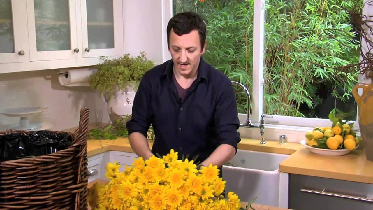 How To Make A Simple Flower Basket Arrangement Pottery Barn Youtube