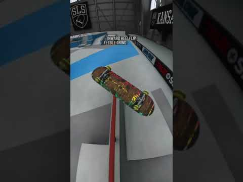 True Skate - Inward heel bs feeble inward heel
