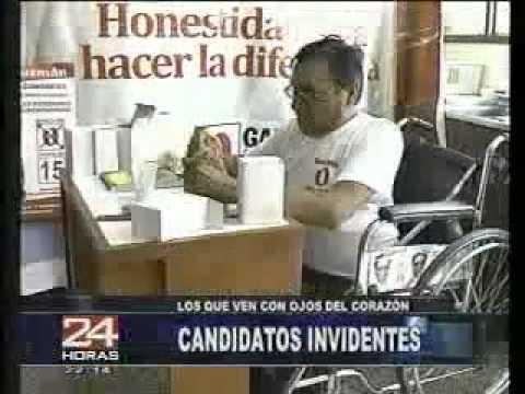 Panamericana televisión presenta candidatos invidentes al congreso de la república