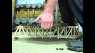 Long Pratt Truss Popsicle Bridge