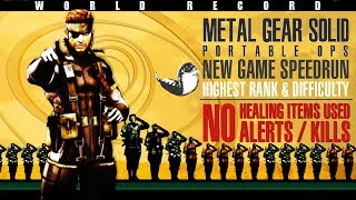 [WR] MGS: Portable Ops Speedrun: NG Tsuchinoko (Highest Rank) in 40:40 [Segmented]