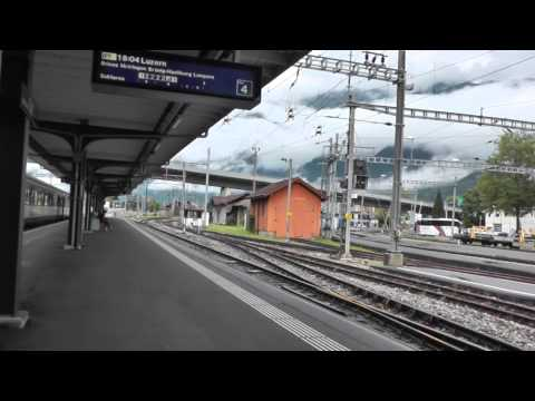 Swiss rail journey Bern to Interlaken Ost