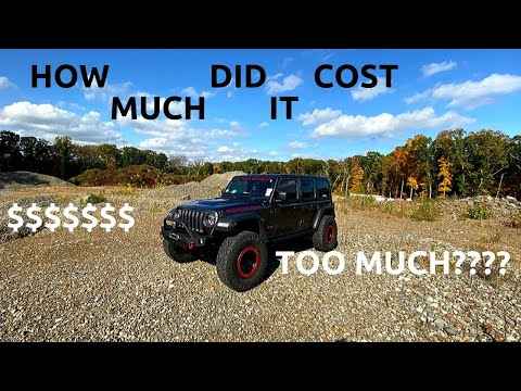 HOW MUCH DID IT COST TO BUILD MY JEEP JL WRANGLER, COST BREAK DOWN!!!!!