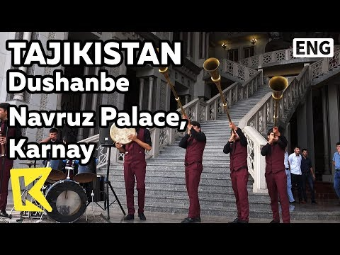【K】Tajikistan Travel-Dushanbe[타지키스탄 여행-두샨베]나브루즈 궁, 카르나이/Navruz Palace/Karnay/Instrument/Teahouse