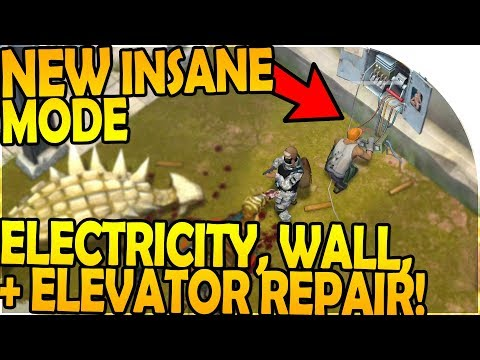 NEW INSANE MODE - ELECTRICITY, ELEVATOR, WALL REPAIR + DEFENSE - Last Day on Earth Jurassic Survival