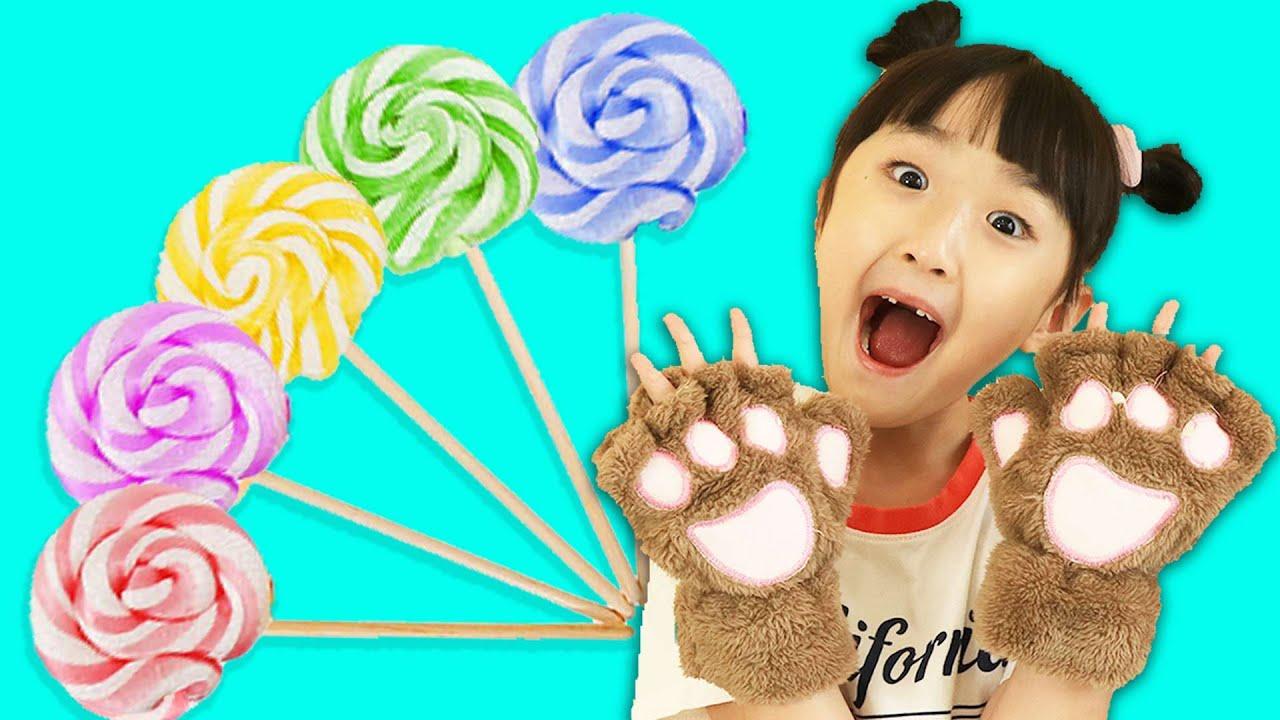 야옹~ 사탕 캔디 롤리팝 먹고 컬러송 불러요 Finger Nursery Rhymes | Learn Colors With Lollipops 슈슈토이 Shushu ToysReview