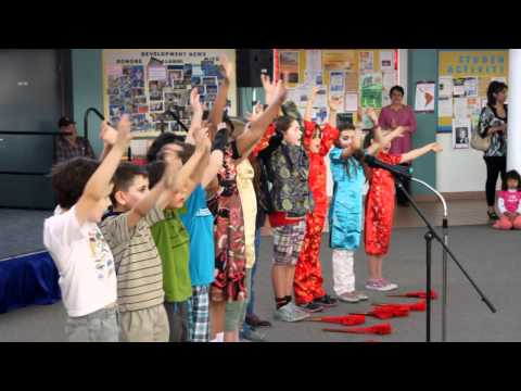 Chinese songs by Las Cruces Academy students on Asian culture day