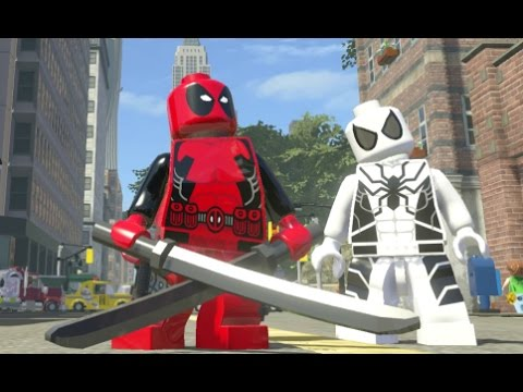 LEGO Marvel Super Heroes - Deadpool Free Roam Gameplay
