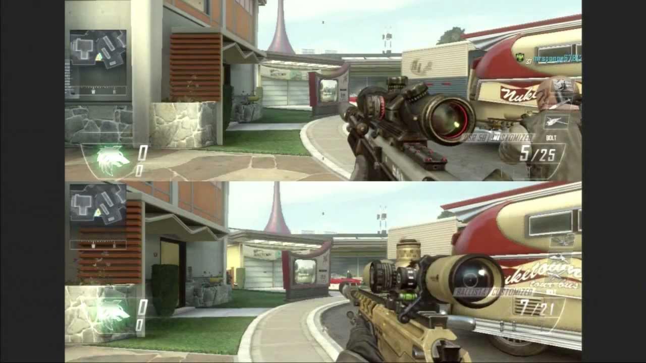 Call of Duty Black Ops 2 Split-Screen Gameplay