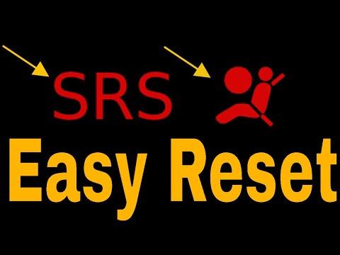 how to reset honda civic airbag srs light air bag - YouTube