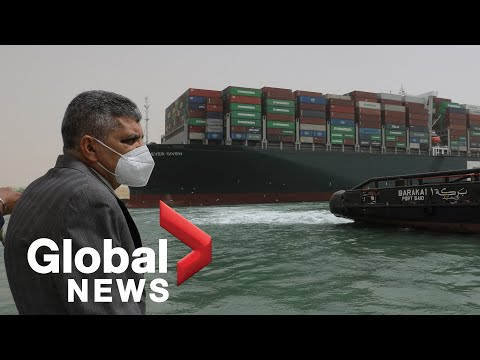 """Suez Canal: Authorities """"working around the clock,"""" unclear when ship will refloat"""
