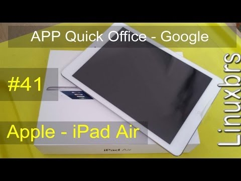 iPad Air 16 gb iOS 7.0.4 - Quickoffice Google - PT-BR - Brasil