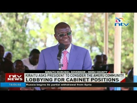 Give the Ameru a key position in cabinet; Kiraitu Murungi tells President Kenyatta