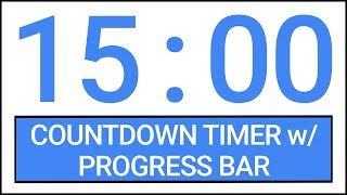15 min Countdown Timer w/ Progress Bar #Timer #Countdown