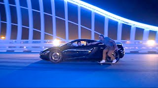 Repeat youtube video Skateboarding Behind a SuperCar