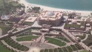 Mi viaje a Abu Dhabi (EUA) Etihad Towers vistas desde el OBSERVATION DECK AT 300