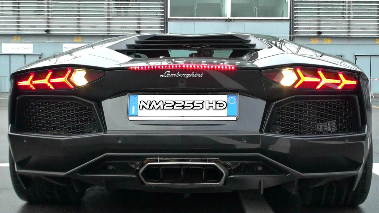 lamborghini aventador with sports exhaust rev limiter! - youtube