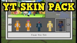 Minecraft XBOX / PE - YOUTUBER SKIN PACK Tutorial