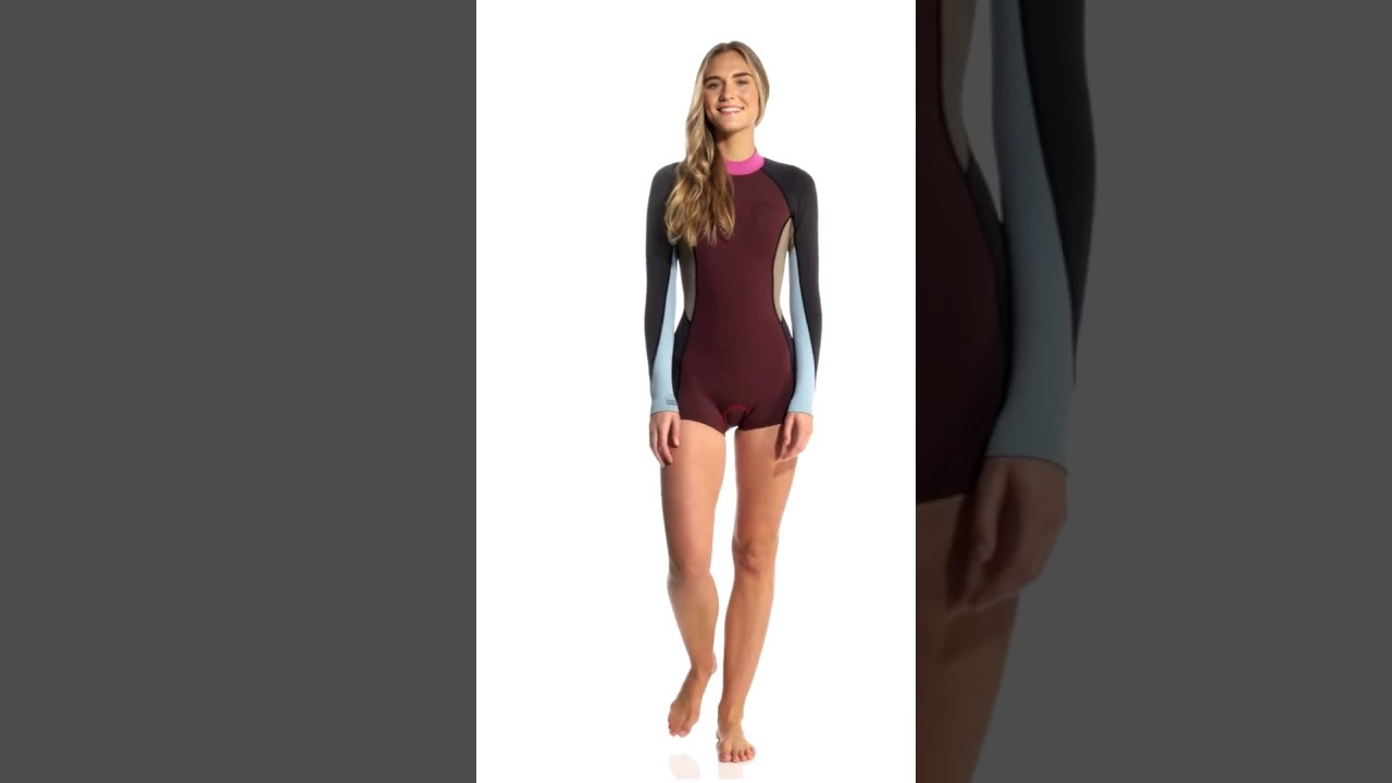335b5eaab482 Billabong Women's 2MM Spring Fever Back Zip Spring Suit | SwimOutlet.com