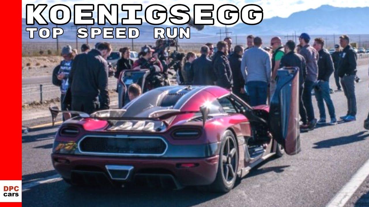 Koenigsegg Agera Rs World Record Top Speed 0 400 0 Run Youtube