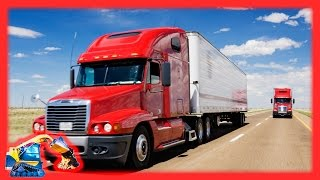Semi Trucks for Kids | Tractor Trailers with Moving Machines
