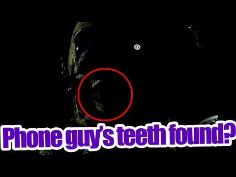 Phone guy's teeth found?Human teeth inside spring trap? Five nights at Freddy's 3 theory