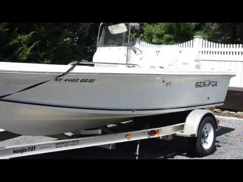 2004 Seafox 185 BF Center Console Fishing Boat For Sale~140 Johnson 4 Stroke Motor